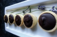 Salted caramel and chocolate tarts